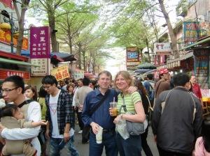 Jeff and Barbara, Lugang street scene